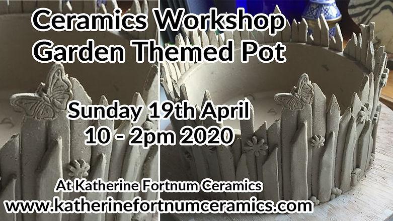 garden themed pot group workshop, 19th a