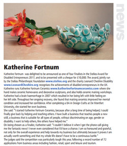 Katherine Fortnum, Craft & Design online article - Jan 2018, pg 26