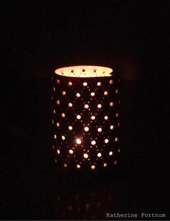 Ceramic Luminary, handmade stoneware, Katherine Fortnum 2015, photograph by Katherine Fortnum