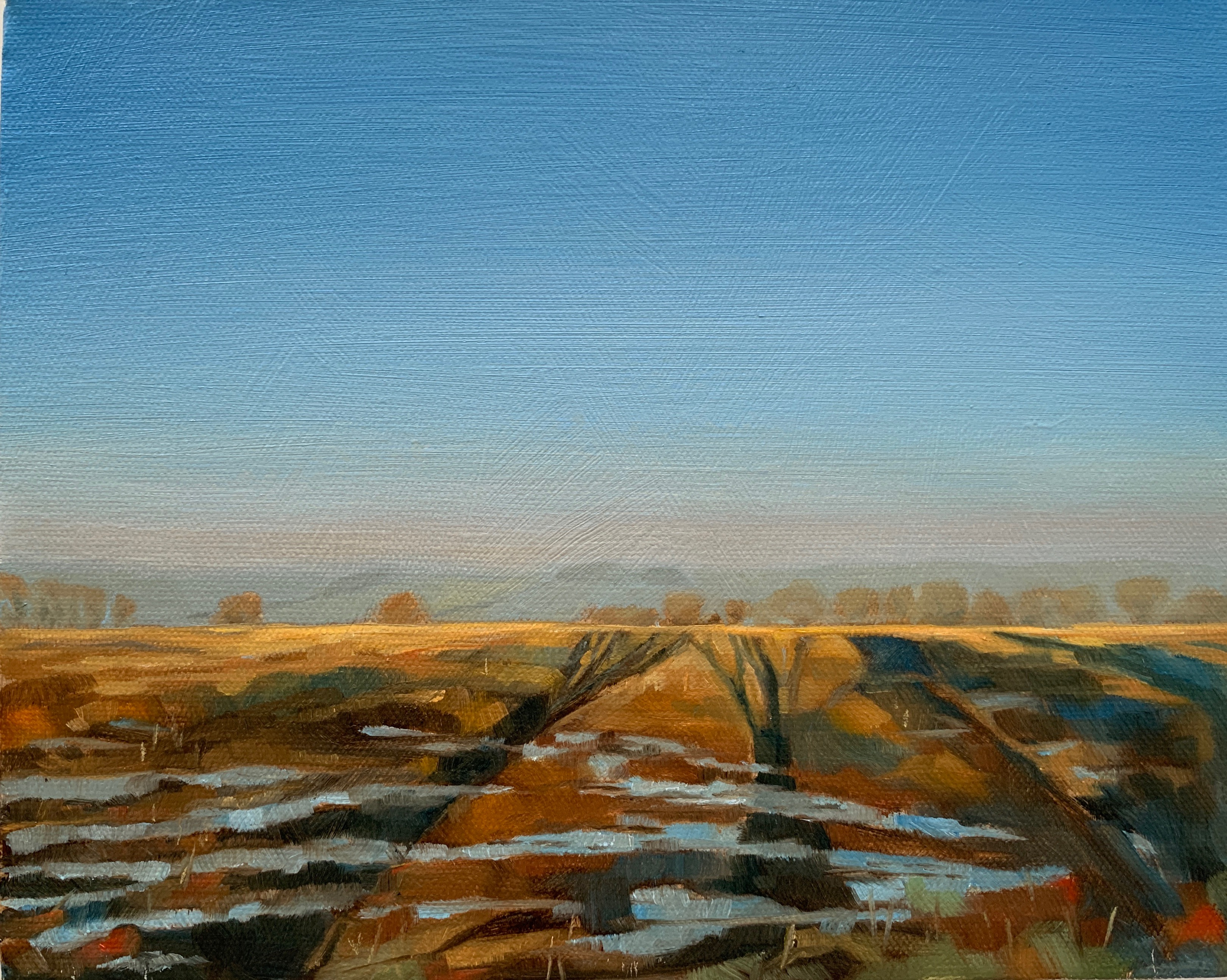 Winter Shadows, Oil on canvas 8 x 6 Alex