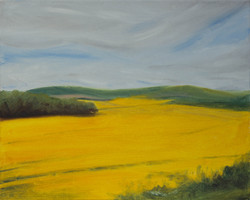 View from Waterloo Farm, Oil, 30x21cm, 2