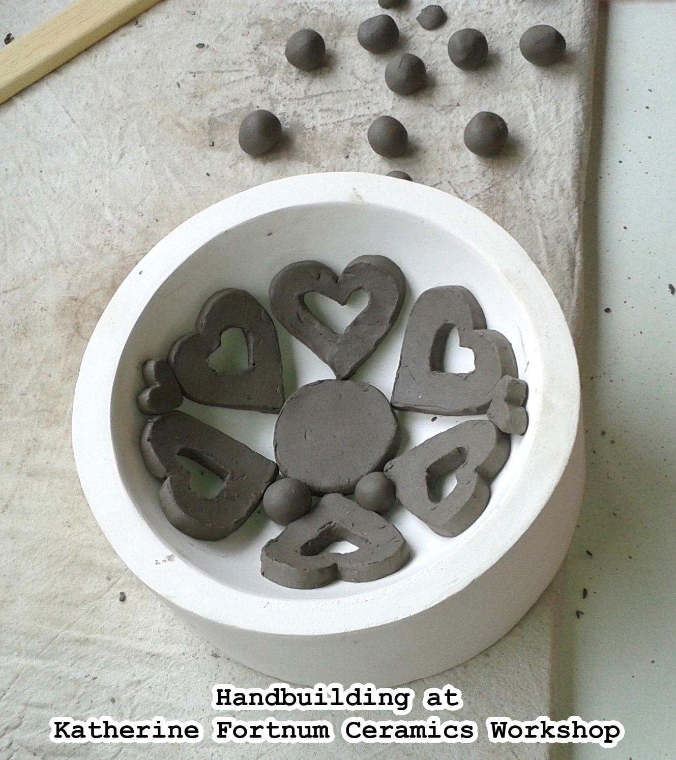 handbuilding at Katherine fortnum ceramics