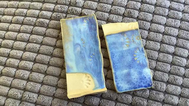 Waterfall blue glaze