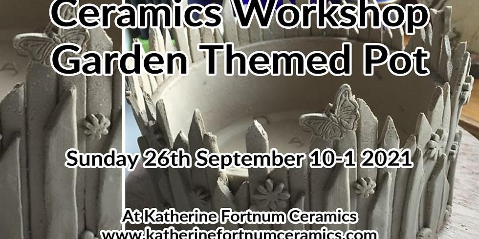 Garden Themed Pot Ceramics Workshop