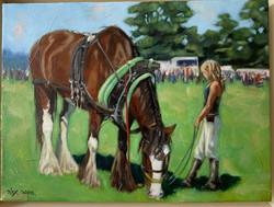 Country Fair - oil on canvas 10 x 8in Al