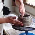 Coiling at Katherine Fortnum Ceramics
