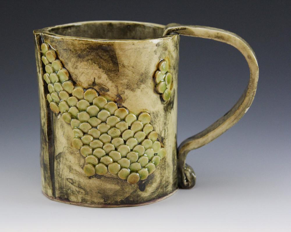 Mug 9, white stoneware, by Katherine For