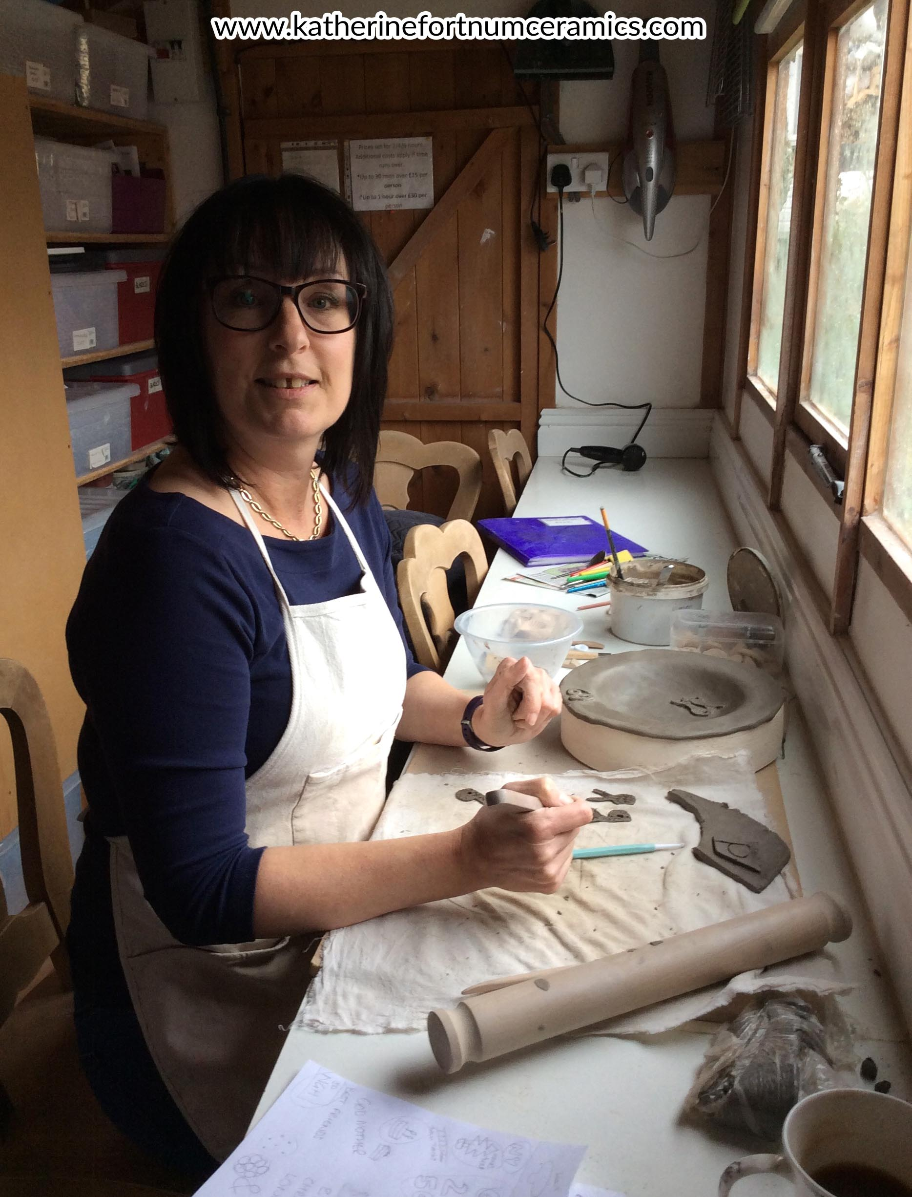 Lauraine Perkins, bowl workshop