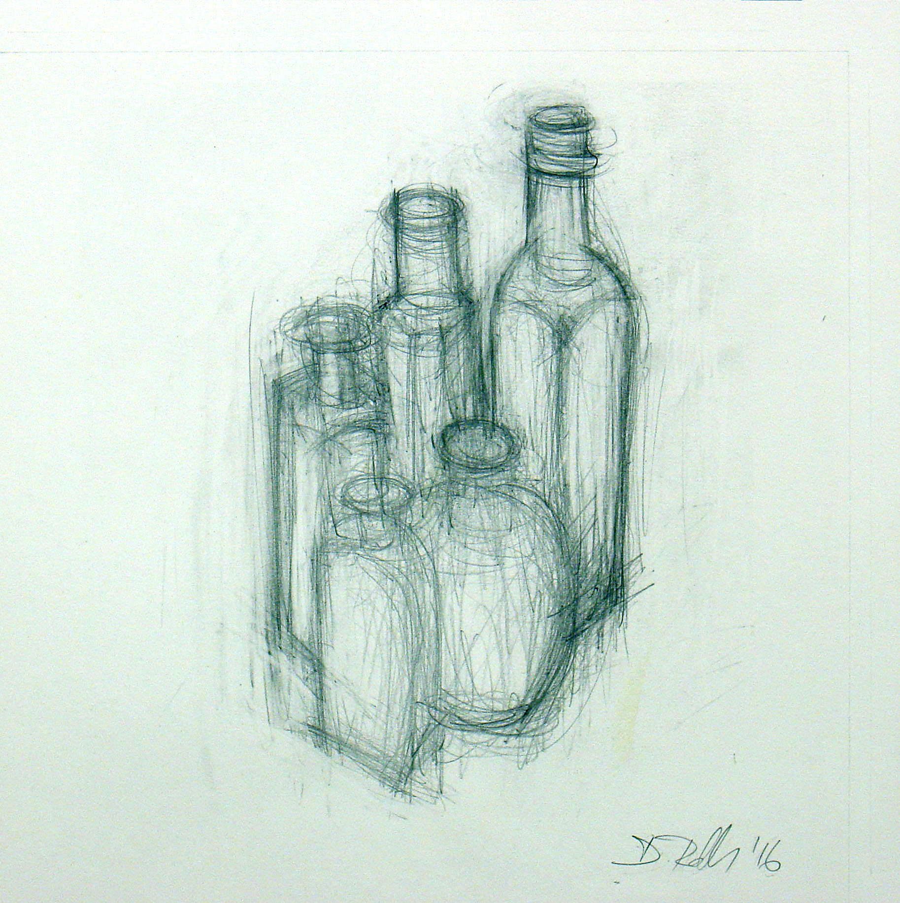 Still Life With Edwardian Bottles