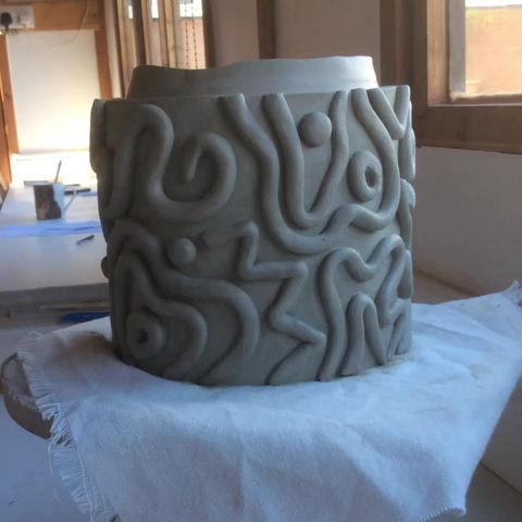 Swirly Totem Pole Piece