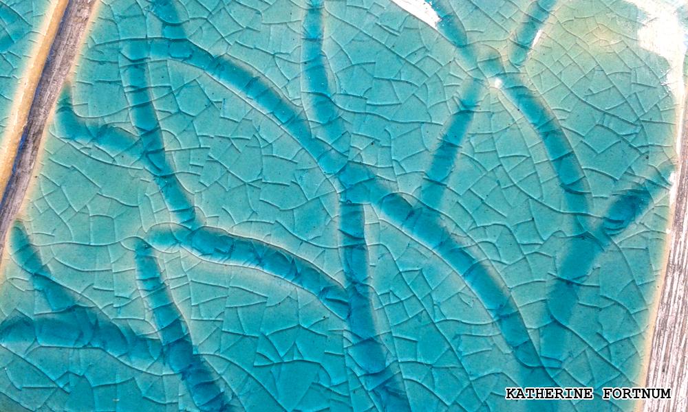 Crackle glaze detail, Katherine Fortnum 2016