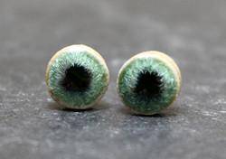 Ceramic Stud sterling silver earrings, m