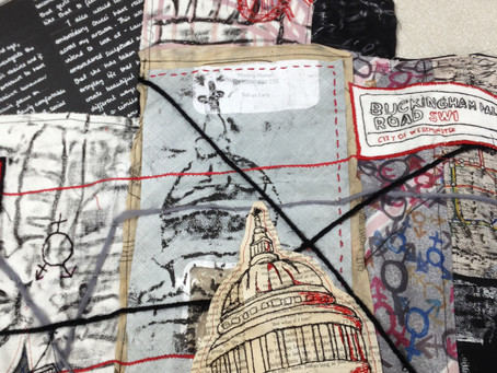 Textiles links between young and more experienced stitchers