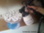 Glazing workshop pieces at Katherine Fortnum Ceramics Workshop, Market Harborough, Leicestershire
