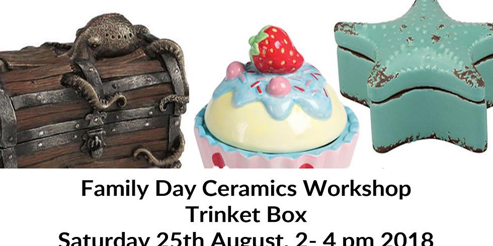 Family Day Ceramics Workshop - Trinket box
