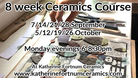 8 week ceramics course, september octobe
