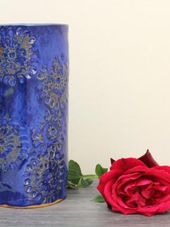 Natures pattern vase, Floating blue, Sto