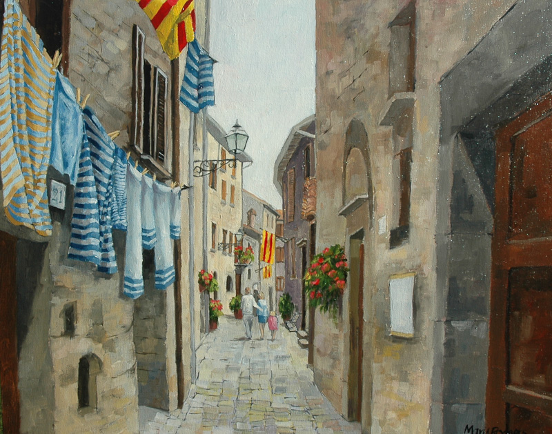 Bolsena, Alley with washing