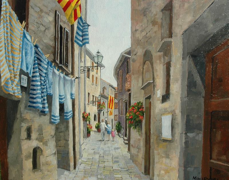 Bolsena, Alley with washing
