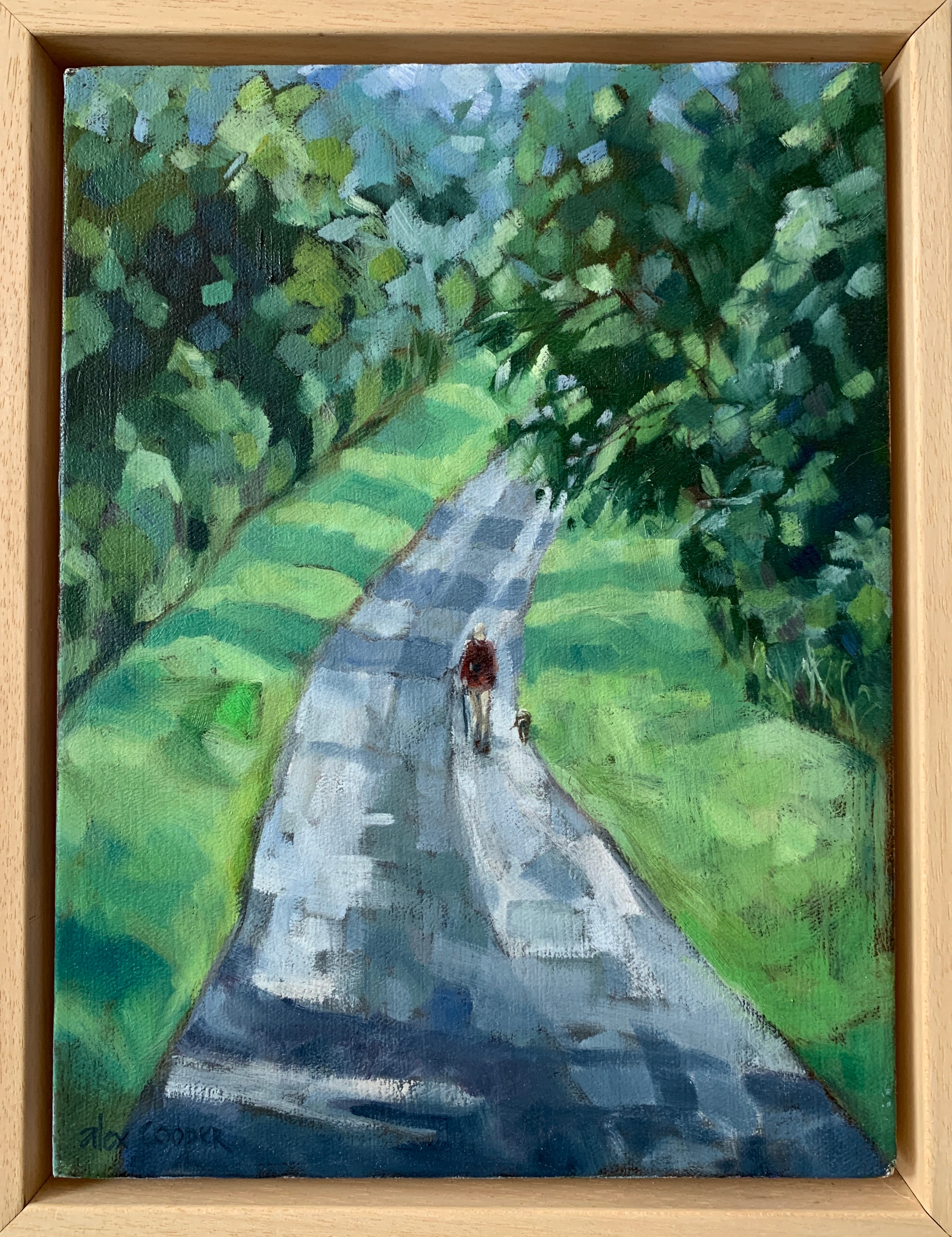 Summer walk - oil on canvas 12 x 9in Ale