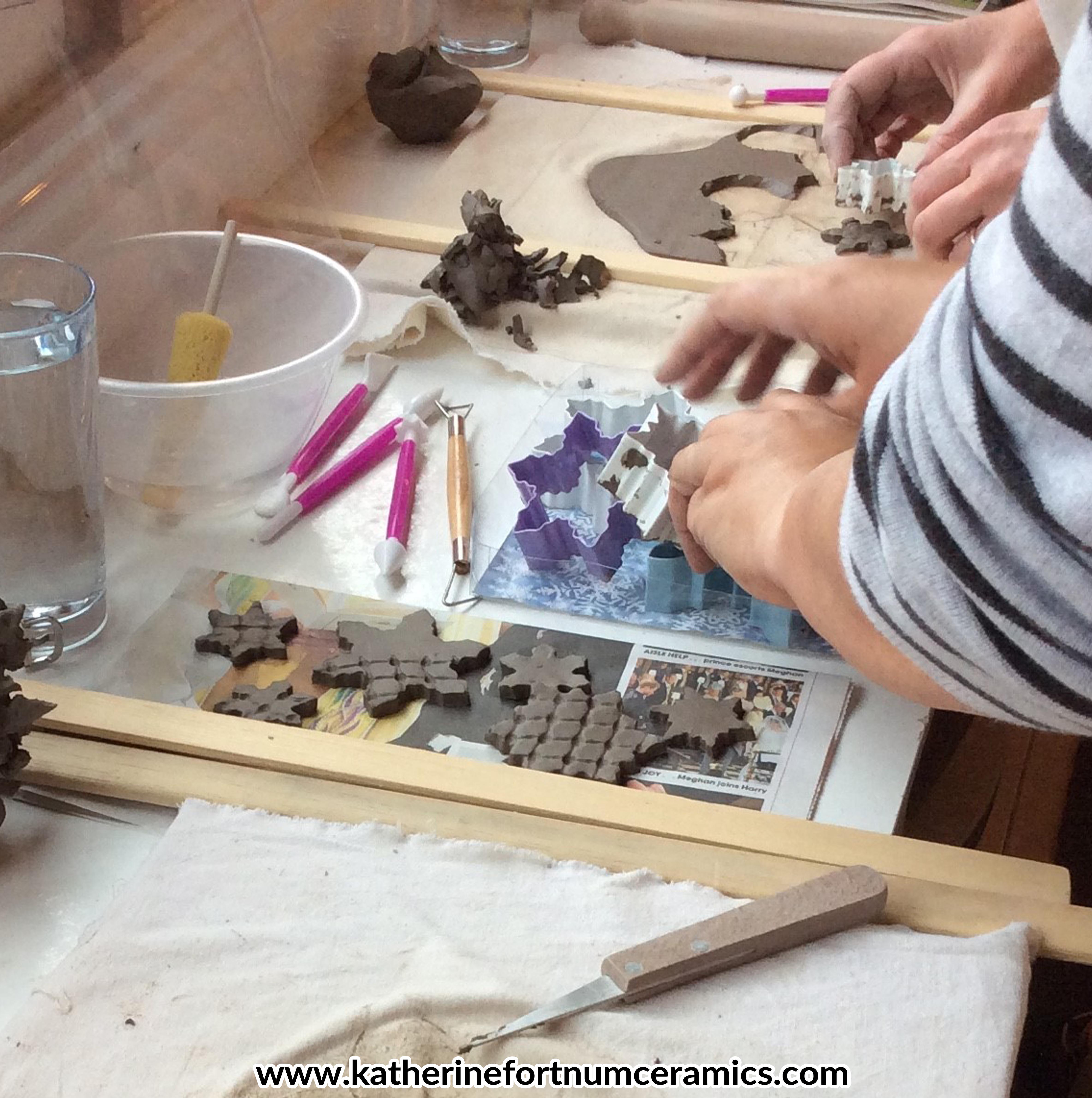 Christmas garland group workshop