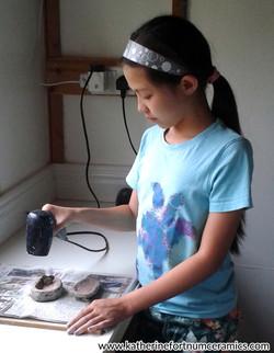 ceramics family day - trinket boxes