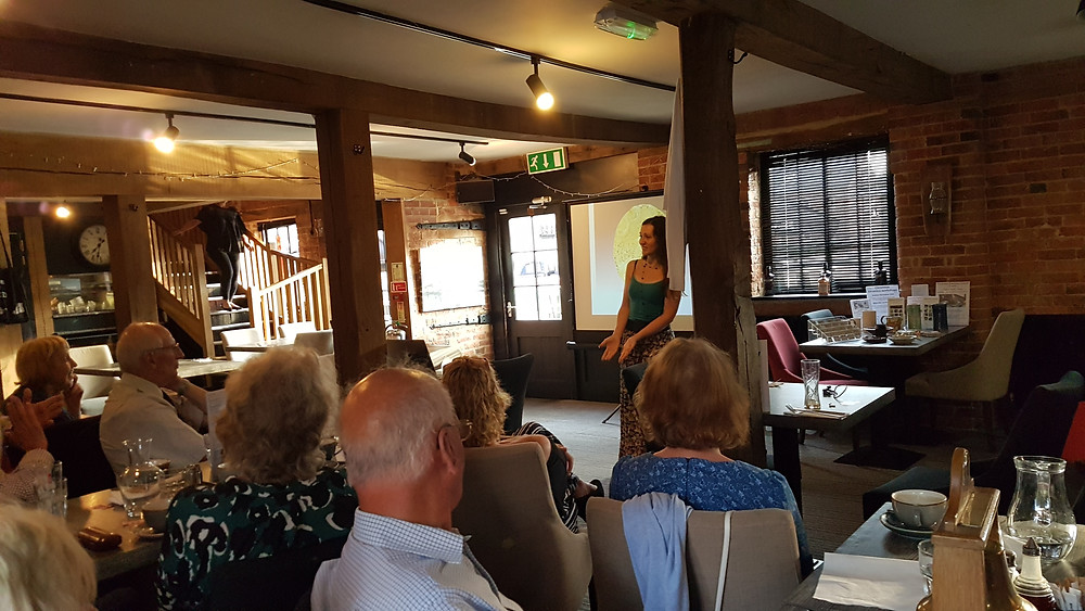 Talk by Katherine Fortnum to Rotary Market Harborough 17-07-18