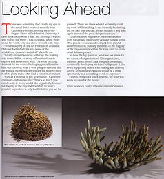 'Looking Ahead' Craft & Design magazine July/August 2013