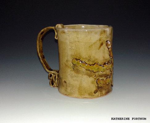 Mug 2, white stoneware, by Katherine Fortnum 2016, photograph by Katherine Fortnum