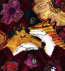 Love- Foxes Original Textile-approx 33 x