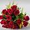Thumbnail: Buquê de 17 rosas vermelhas