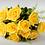 Thumbnail: Buquê de 12 rosas amarelas