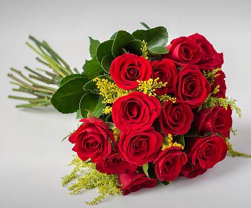 Buquê de 19 rosas vermelhas
