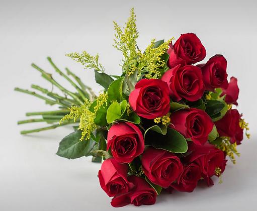 Buquê de 17 rosas vermelhas