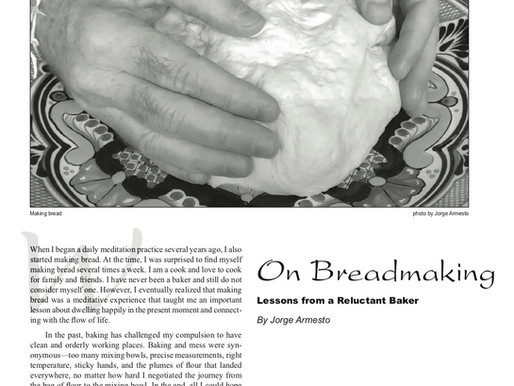 On Breadmaking:                                   Lessons from a Reluctant Baker