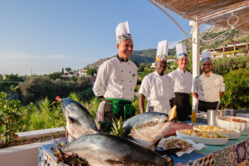Show Cooking on the terrace