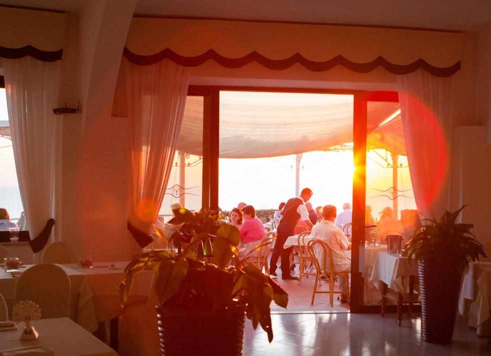Ristorante al tramonto | Hotel Paradiso