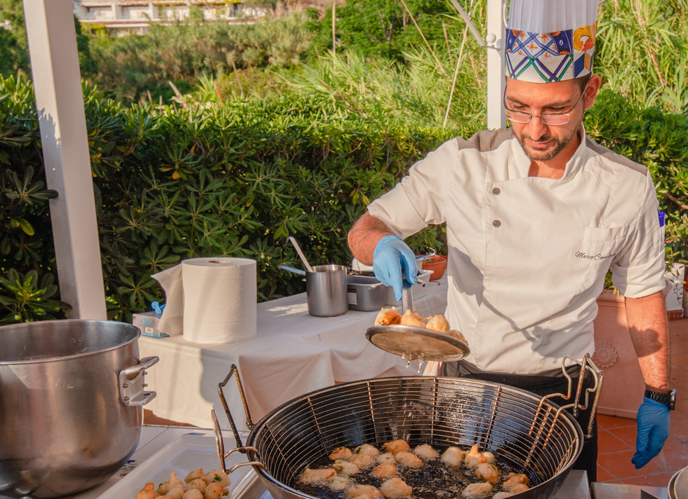 Live Cooking in terrazza Hotel Paradiso