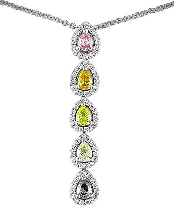 Coloured Diamond Pendant