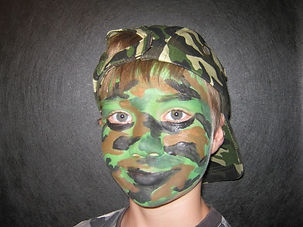 laser tag face paint