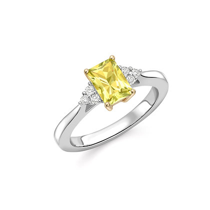 Canary Yellow Tourmaline Ring