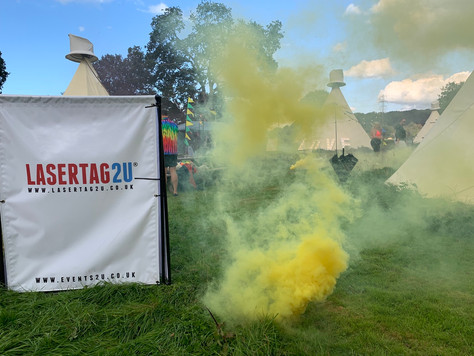 Why not add smoke grenades to light up your party!