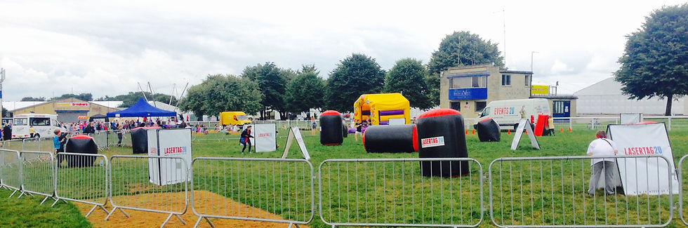 Festival laser quest with bouncy castle bunkers