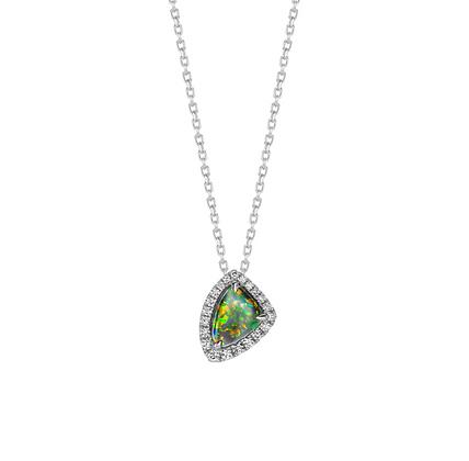 Australian Black Opal Pendant