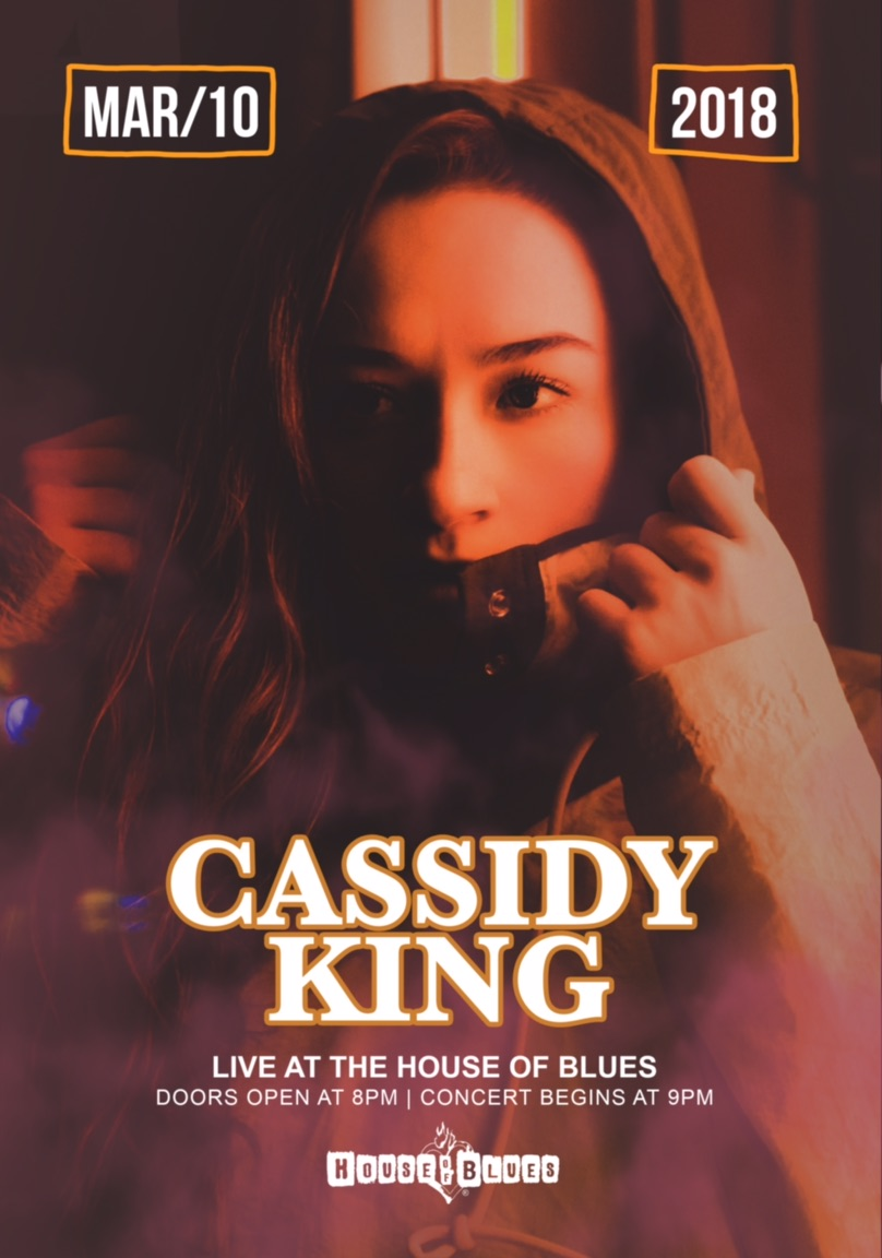 Cassidy King, House of Blues Promo