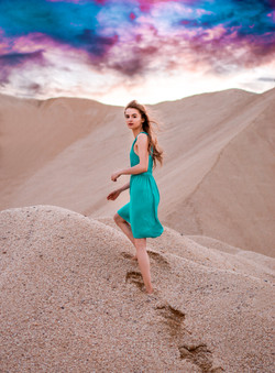 Sand Dunes with Madeline