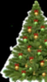 half christmas tree from 2018 christmas
