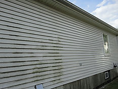 Power Wash dirty siding on homes