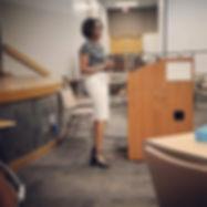 Dr. Lockhart presenting on Compassion Fatigue, sponsored by Laurel Ridge.
