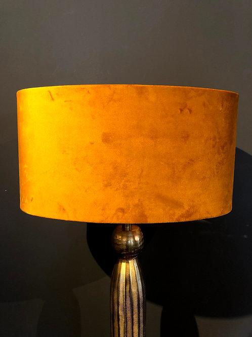 Lampenkap ovaal velvet oranje